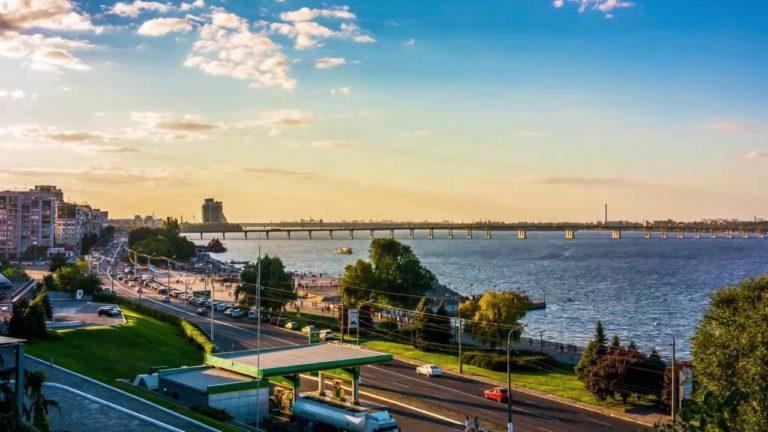 Смотровая площадка в парке Шевченко Днепр