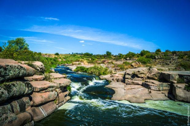 Шолоховский водопад. Днепропетровская область