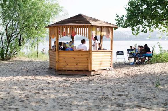 Беседки на Воронцовском пляже