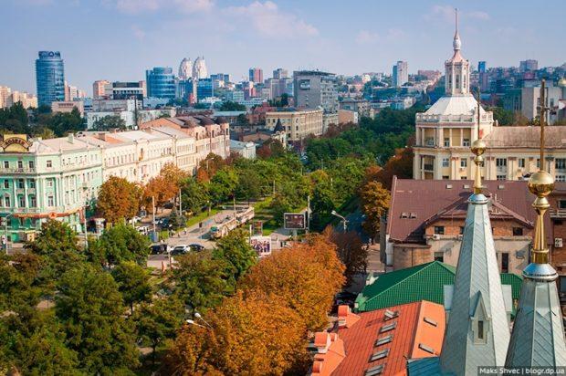 Вид с крыш Днепра